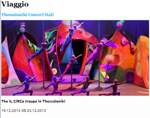 iL CiRCo's Inaugural Performances in Thessaloniki, Greece Well Received