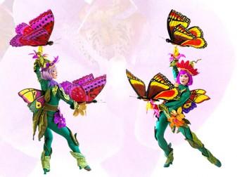 Flower Butterfly Girls